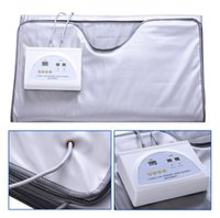 Wholesale Infrared Blanket Therapy - FIR Sauna Far Infrared Body Slimming Sauna Blanket Heating Therapy Slim Bag Sauna Thermal Blanket Weight Loss Body Detox Machine For Salon
