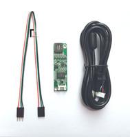 toque lcd resistivo venda por atacado-Freeshipping 4 fios Resistive USB Touchscreen Controlador LCD Touch Screen Painel Driver Card