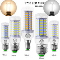Wholesale e12 bulbs 7w for sale - Group buy SMD5730 E27 GU10 B22 E12 E14 G9 LED bulbs W W W W W V V angle LED Bulb Led Corn light