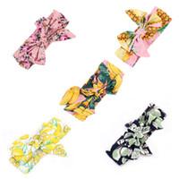 ingrosso negozio di neonati-May Baby # 5001 New Colorful Neonato Fascia per capelli Nastro Elastico Baby Copricapo Bambini Fascia per capelli Ragazza Bow Knot Drop Shopping