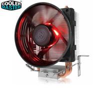 ventiladores de cobre para pc al por mayor-Cooler Master T20 2 Cooper Heatpipes Refrigerador de CPU para Intel 775 115X AMD AM4 AM3 Radiador de CPU 95.5mm 3pin ventilador de enfriamiento PC silencioso