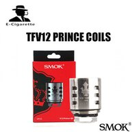 Wholesale X6 Atomizer Tank - Authentic SMOK TFV12 PRINCE coil Head Q4 X6 T10 M4 Replacement Core smok TFV12 PRINCE atomizer tank 100% Original DHL free shipping 2218104