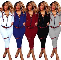 Wholesale New Style Women S Tracksuit - NEW Women's Tracksuits spring style sweat shirt Print tracksuit women Long Pants Pullover Tops Womens set Women Sport Suits
