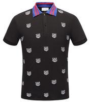 nuevos diseños de la camiseta del polo al por mayor-Runway Light Polo de algodón con camiseta a rayas para hombre Nuevo llega Italia diseño marca contraste cuello polo camiseta hombre moda poloshirt 324