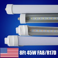 Wholesale end shop for sale - LED Light Tube W Replacement Fluorescent Lamp Shop Lights FT T8 Single Pin FA8 Base Dual Ended Power Cold White K LM