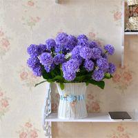 Wholesale purple chrysanthemum flower - Chrysanthemum Simulation Silk Flower Danced Home Beauty Ornament Living Room Table Put Artificial Flowers Bride Bouquet Wedding 3TH gg