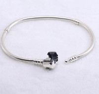 Wholesale Authentic Sterling silver Bracelets snake chain with logo bracelet HV fit pandora Charms Beads jewelry for women and men best gift