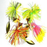 ingrosso tipi di esche da pesca-Nuova canna da barba di tipo Willow Esca da pesca rotante con paillette Bait multifunzionale in metallo biondo con esche artificiali Spinner 19.8G