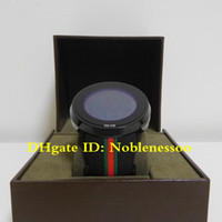 Wholesale round color paper for sale - Group buy 4 color Luxury original box papers Top Classic Men s YA114207 Digital mm Black Green Red Strap Watch Rubber Bands Quartz Men s Watches