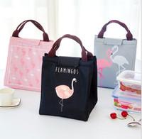 ingrosso tessuto di isolamento termico-Borsa pranzo isolante termico Flamingo Borsa da pranzo portatile impermeabile da campeggio per esterni, borsa da pranzo in tessuto oxford a mano