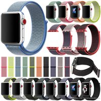 Wholesale Woven Nylon Sport Loop Bracelet Apple Watch Strap Replacement Watch Band For IWatch Band Series