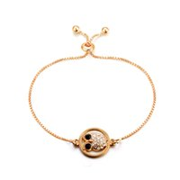 Wholesale gold plated owl bracelet - box chain owl bracelet on ankle elegant simple fashion Europe and United states 2018 SHEN BR17155