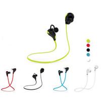 iphone mode einzelhandel großhandel-Für Iphone In-Ohr Bluetooth Kopfhörer QY7 Bluetooth 4,1 Stereo Kopfhörer Mode Sport Lauf Headsets Studio Musik Kopfhörer Mit Kleinkasten