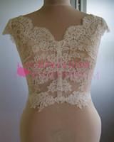 Wholesale shawl accessories online - Custom Elegant Sheer Sleeveless Lace Appliques Wedding Jacket Vintage Wedding Bolero Bridal Jacket Bridal Wraps Bridal Accessories