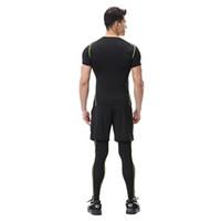 Wholesale yoga pants for men online - PROBRA Letter Men Leggings Spandex Fitness Yoga Pants For Sportswear Breathable Slim Leggings Men s Sporting Tights