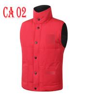 Wholesale Canada Mens Jacket - Wholesale canada Brand winter jacket Mens FreeStyle Vest Goose Vest Down Vest Down jacket 5 color