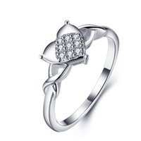Wholesale city hearts - Brand New Ladies Fashion City Style Sterling Silver wedding Ring 925 silver heart love ring for women China Factory wholesale 023