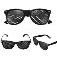 melhorar a visão venda por atacado-Harko Vision Care Visão Melhorar Treinamento Óculos Óculos Eyewear Anti-fatigue Black Driver Goggles