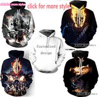 Wholesale Men S Sweaters Skull - New Fashion Couples Men Women Unisex Clothes Iron Maiden and Skull 3D Print Hoodies Sweater Sweatshirt Jackets Pullover Top TT132