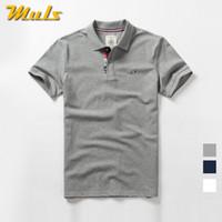 белые шорты спандекс оптовых-Muls  Mens  Summer Basic Style Short Cotton Spandex Male Tees Top  High Quality Cool Clothing Man Navy Gray White