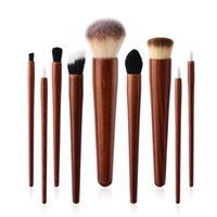 Wholesale brow concealer for sale - 9Pcs set Cosmetic Makeup Brushes Set Wood Handle Foundation Power Eye Shadow Brow Concealer Blending Contour Beauty Brush Tools Kits