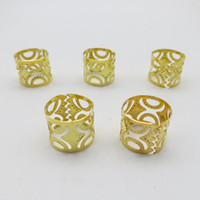 Wholesale clip dreads resale online - Big Size Golden Plated mm hair dread Dreadlock Beads adjustable cuff clip approx mm hole clip