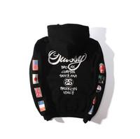 couple hoodies design achat en gros de-Nouveau Designs 2018 hoodies ST World Tour Peinture Coloré Splash-ink Unisexe Sweats Tops Couples Sweats Polaires Oiseau OVO Drake D7925