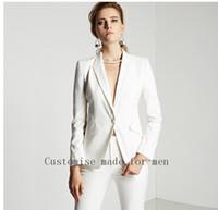 ingrosso vestito di pantalone d'avorio delle donne-Alta qualità-Nuovo-2017-Ivory-Autunno-Business-Ladies-Pantaloni-Abiti-Formale-Ufficio-Donna-Lavoro-Pantalone-Moda Elegante