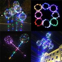 globos al por mayor-Luminous Bobo Balloons LED Globo de luz 20 pulgadas Globos para el festival de la fiesta de bodas Luminous Decorations Toys DHL libre 648