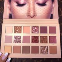 dhl envío gratis sombra de ojos al por mayor-HOT Beauty Makeup Palette New NUDE 18colors Eyeshadow Palette Matte Shimmer Alta calidad DHL envío gratis
