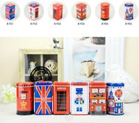 Wholesale cans candy boxes for sale - Group buy Metal Candy Telephone Booth Cans Storage Box Trinket Tin Jewelry Iron Tea Coin Storage Square Box Case
