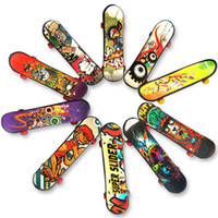 Wholesale gift favors for kids - Mini Finger Skateboard 9.5*2.6*1.3 CM OPP PKG Color Random Mini Fingerboard Scooter Skate Board Party Favors Educational Gift Toys For Kids