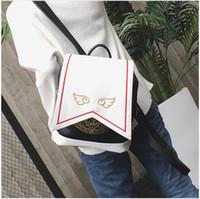 Wholesale sakura dress - Anime Card Captor Sakura Girls Backpack Cardcaptor Shoulder Bag Kawaii Cosplay Lolita Magic Bags With Embroidery Wings