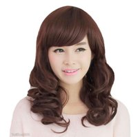 Wholesale brown wavy medium length wigs resale online - New Fashion Medium Brown Wavy Curly Women s Lady s Cosplay Hair Wig Wigs Cap