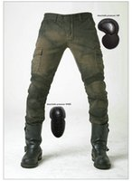 Wholesale Protection Trouser - uglyBROS motorpool army green loose straight pants motorcycle protection riding pants knight daily riding casual jeans motorcycle trousers