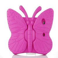 Wholesale Kids Ipad Tablet - New 2018 Hot EVA Shockproof Case for iPadmini1 2 3 Cartoon Butterfly Stand Tablet Cover for iPad Kids Safe Case