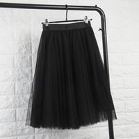 Summer New Women Layer Tulle Skirt Women Party Tutu Petticoat Ball Midi Skirts  Fashion Female Clothes 7e2172cef