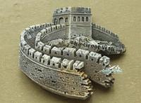 tourist gifts NZ - China BeiJing The Great Wall Tourist Travel Souvenir 3D Resin Decorative Fridge Magnet Craft GIFT IDEA