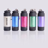 многофункциональный аварийный фонарь оптовых-100 шт./творческий портативный открытый чрезвычайных многофункциональный светодиодный фонарик мини дайвинг пластиковый фонарик USB аккумуляторная брелок огни