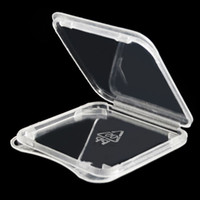 hafıza kutusu kartları toptan satış-1000 adet / grup Yüksek Kalite SD Kart SDHC SDXC Hafıza Kartı Koruyun Vaka Tutucu Plastik Kutu Mücevher Durumlarda