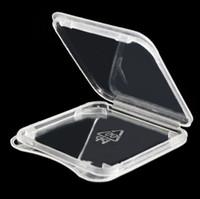 sd plastic achat en gros de-1000pcs / lot haute qualité carte SD SDHC SDXC carte mémoire protéger cas titulaire en plastique boîte Jewel Cases