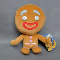 Wholesale men doll toys video online - EMS Gingerbread Man CM Plush Doll Stuffed Best Gift Soft Toy