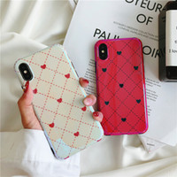 Wholesale Tpu Case Iphone Heart - 2018 New Arrial Gorgeous Blue Ray Soft TPU Heart To Heart Case for iPhone X 6 7 Plus