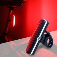 Wholesale water proof led lighting - Bicycle USB Rechargeable Tail Light Bike Cycling Rear Lamp Taillight COB LED Rain Water Proof