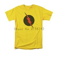Wholesale Reverse Flash - Free Shipping The Flash Reverse Flash Symbol Comics Licensed Adult Shirt S-3XL men's top tees