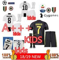 dfbf3480d KIDS KIT + SOCKS Juventus 3RD Camisola de Futebol 2018 2019 juve HOME  RONALDO HIGUAIN DYBALA D. Costa MANDZUKIC Camisa de Futebol Maillot Futebol