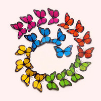 Wholesale Butterfly Bathroom Decor - Fansy 12cm Single Layer Wings King Butterflies 3D Cinderella Butterfly 10 Colors Removable Wall Stickers Home Decor
