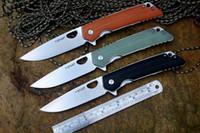 faca de jade venda por atacado-YSTART new LK5016 flipper faca dobrável rolamento de esferas arruela 440C lâmina de cetim preto orange ou jade G10 lidar com facas de bolso de caça ao ar livre