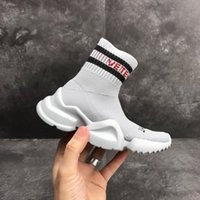 Wholesale kids socks free shipping - Free Shipping Kids VETEMENTS Sock Trainers Children Speed Trainer Boys And Girls Fashion Stretch Mesh Sneaker Knit Sock Running Shoes