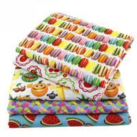 ingrosso perline d'argento della porcellana-50 * 147 cm tessuto frutta bevanda polyestercotton anguria per bambini biancheria da letto tessili per la casa per cucire bambola tilda, c478